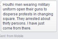 25 Jan 2015 Houthi