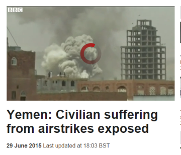 bbc civilian suffering from airstrikes exposed
